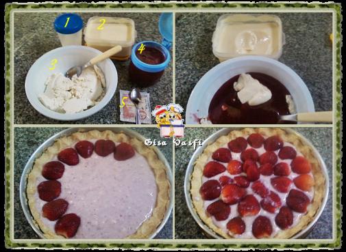 Torta cheese cake de morangos 6