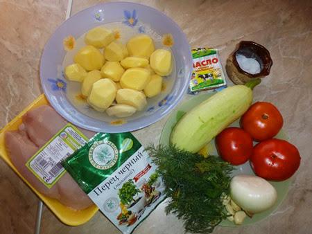 овощное рагу с курицей в мультиварке ингредиенты