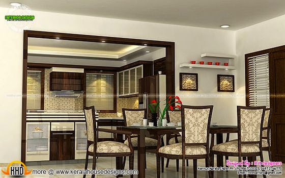 February 2015 kerala home design and floor plans for Dining room designs kerala