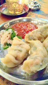 For dumpling week Bollywood Theater's two locations offered a chicken or vegetarian momos, steamed Nepalese dumplings found in Northern India. These are the vegetarian momos