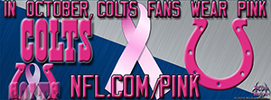 Indianapolis Colts Breast Cancer Awareness Pink Facebook Cover Photo