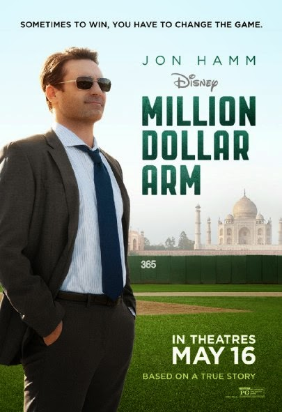 Poster Of English Movie Million Dollar Arm (2014) Free Download Full New Hollywood Movie Watch Online At Alldownloads4u.Com