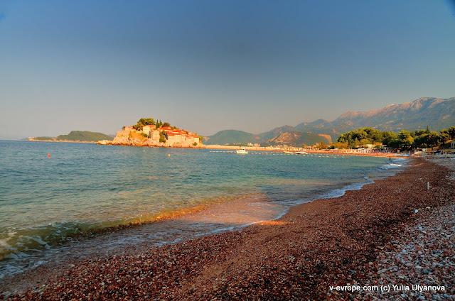 Остров Св. Стефана. Пляж. Рассвет