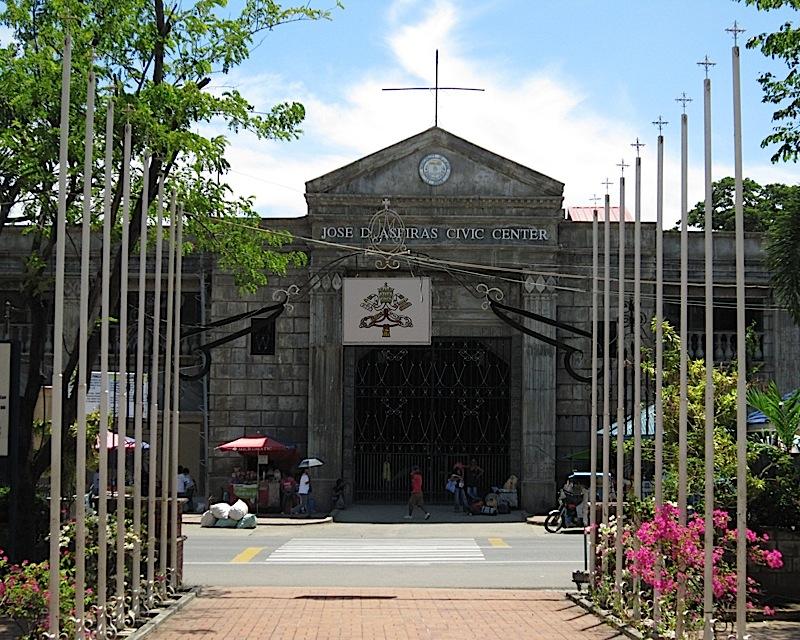 the Jose D. Aspiras Civic Center across the Agoo Basilica