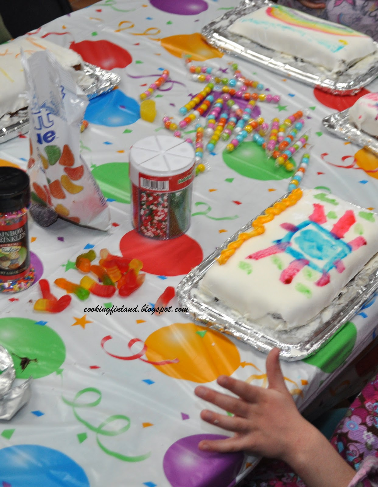Cooking Finland A Cake Decorating Kids Birthday Party