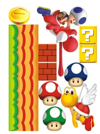 Giant super mario removable nursery wall stickers kids new design ebay - Super mario giant wall decals ...