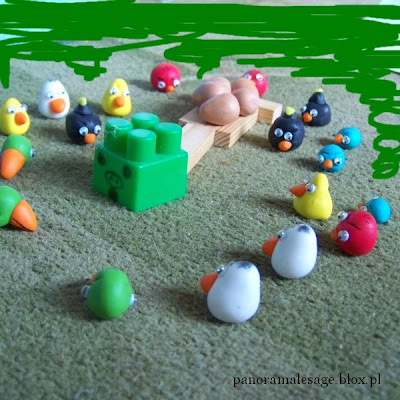 Angry Birds Angry Birds Seasons Angry Birds RIO gra komputerowa wykonana przez mojego syna fimo modelina ptaszki Panorama LeSage