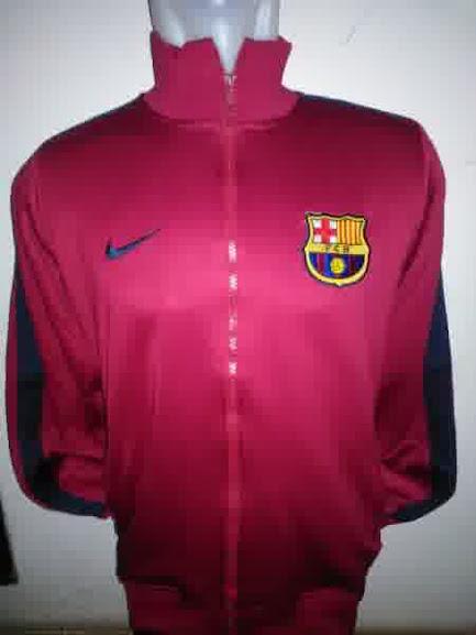 Jual Jaket Barcelona Warna Merah Terbaru 2014
