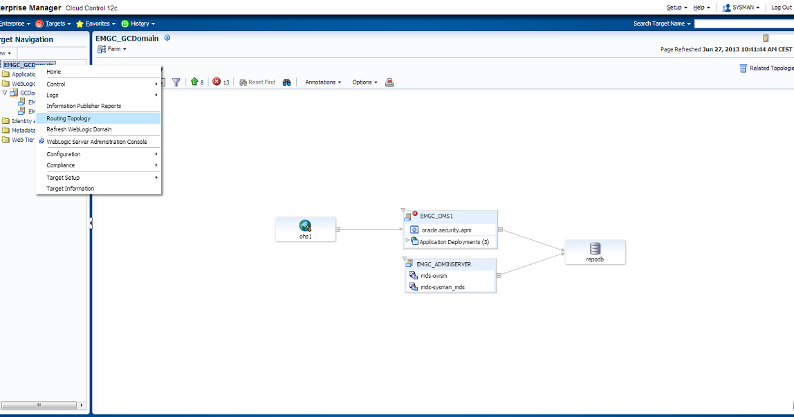 Middleware Snippets Fun With Enterprise Manager