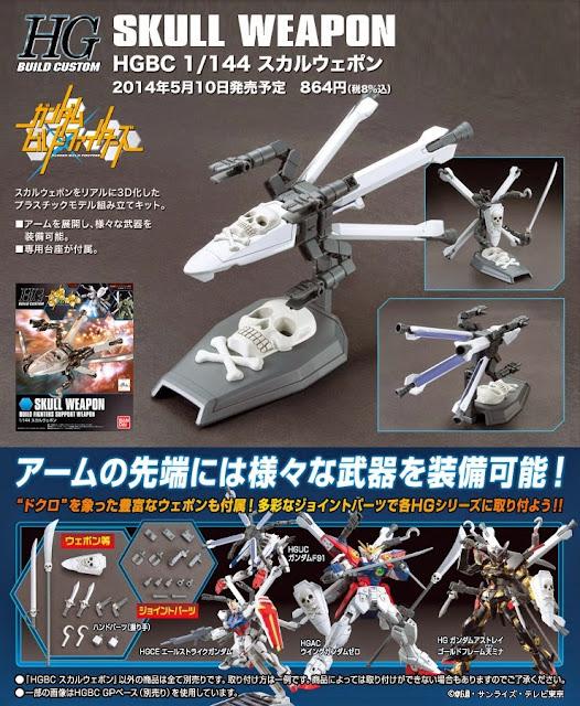 Sáng tạo cùng Vũ khí Gundam HGBC 012 Skull Weapon tỷ lệ 1/144