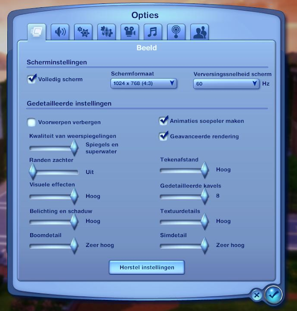 Sims 3 testsysteem 1