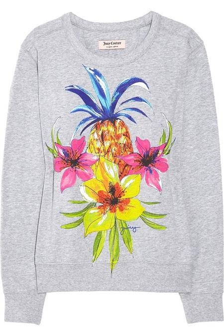 Inspiração estampa tropical - blusa de moletom