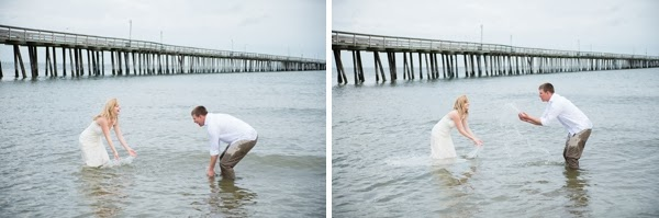 Virginia beach bridal anniversary session by caitlin for Lynnhaven fishing pier