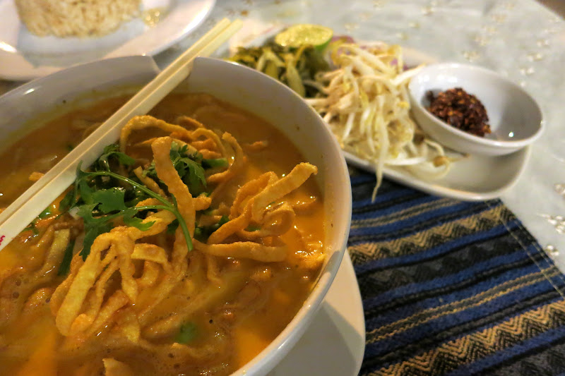 Khao soi with fixins