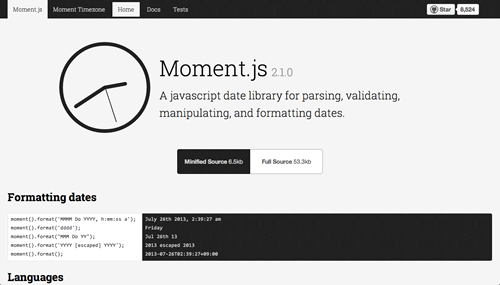 Moment.js | Parse, validate, manipulate, and display dates in javascript.
