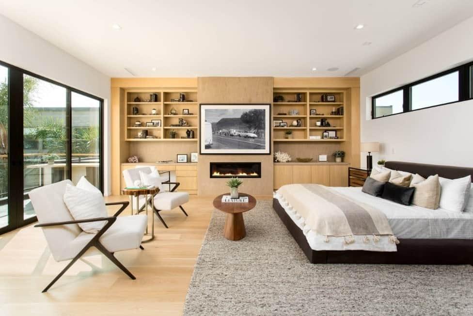 Put Wall Shelves on Master Bedroom Wall