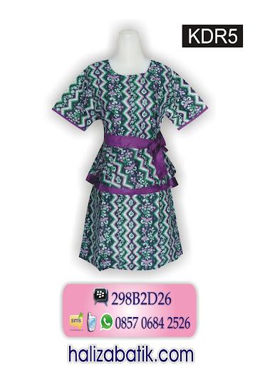 pakaian batik modern, dress batik modern, batik wanita modern
