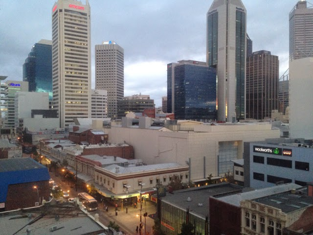 Perth view from the hotel