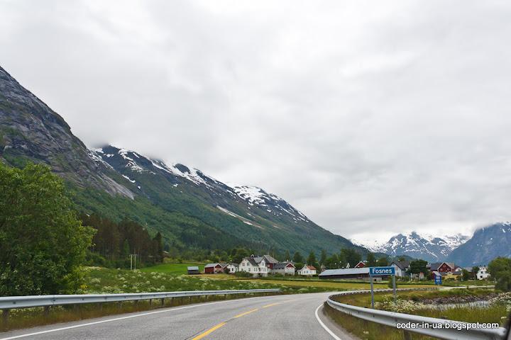 дорога гейрангер-берген.норвегия