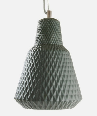 Leitmotiv ceramic grey pendant lamp £39.99