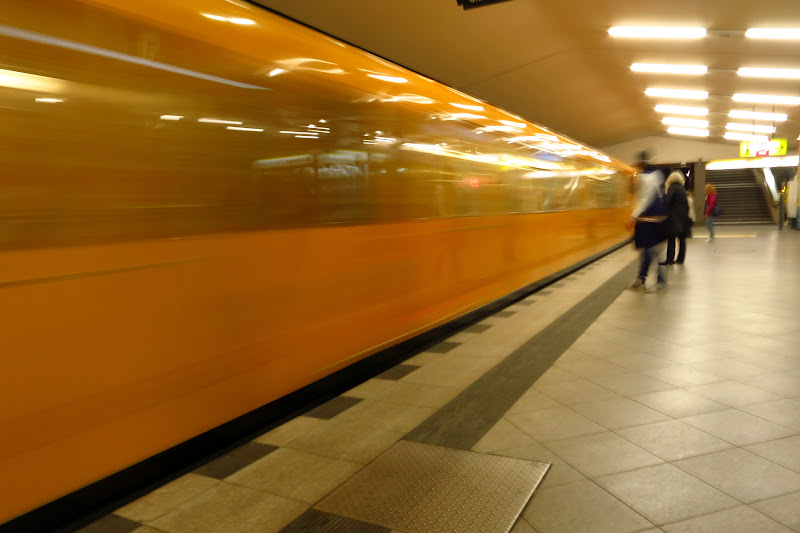 Train pulling in at Turmstrasse