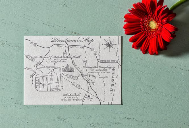 custom letterpress wedding invitations: Allison + Marco