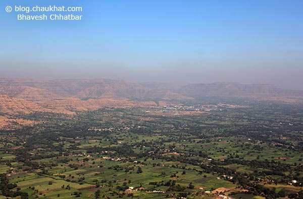 Breathtakingly beautiful unending panoramic view from Harrison's Folly near Panchgani hill station