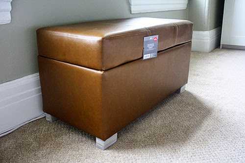The Redheaded Stepchild: DIY: shoe storage ottoman