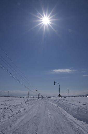 太陽、雪、そして青空