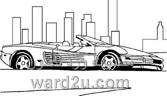 رسم سيارات اشكال متنوعه واوضاع مختلفه
