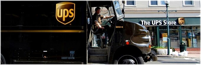 UPS truck and the UPS Store in NYC