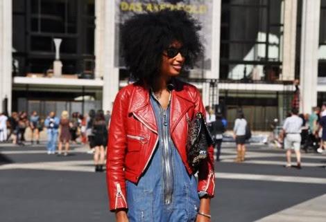 Cabello afro sano largo bonito Julia Sarr-Jamois