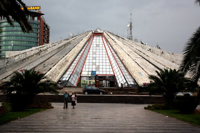 The Pyramid building in Tirana