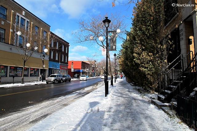 pe strada iarna