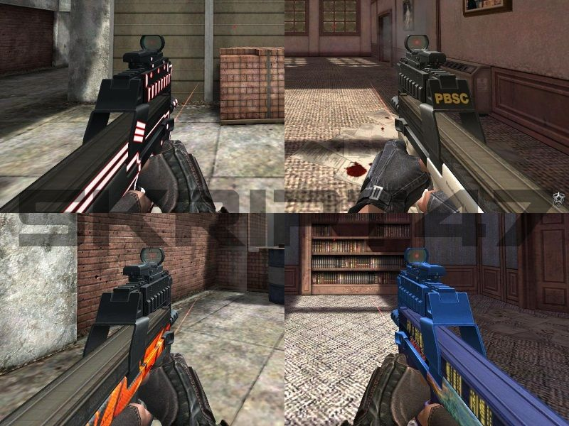 P90 Inferno, P90 Newborn, P90 Wh PBSC, P90 Gold