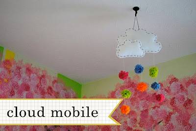 cloud mobile chandelier - Kids' home decor idea