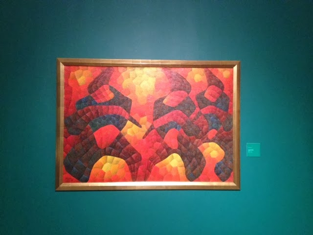 Abstract painting by Filipino artist H.R. Ocampo