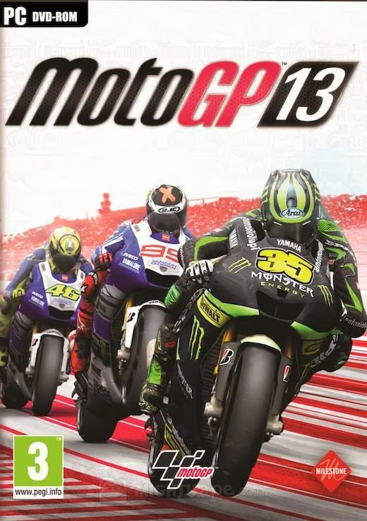 Cover Of MotoGP 13 (2013) Full Latest Version PC Game Free Download Resumable Links at Alldownloads4u.Com