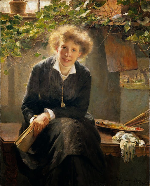 Bertha Wegmann - Portrait of Jeanna Bauck (1881)