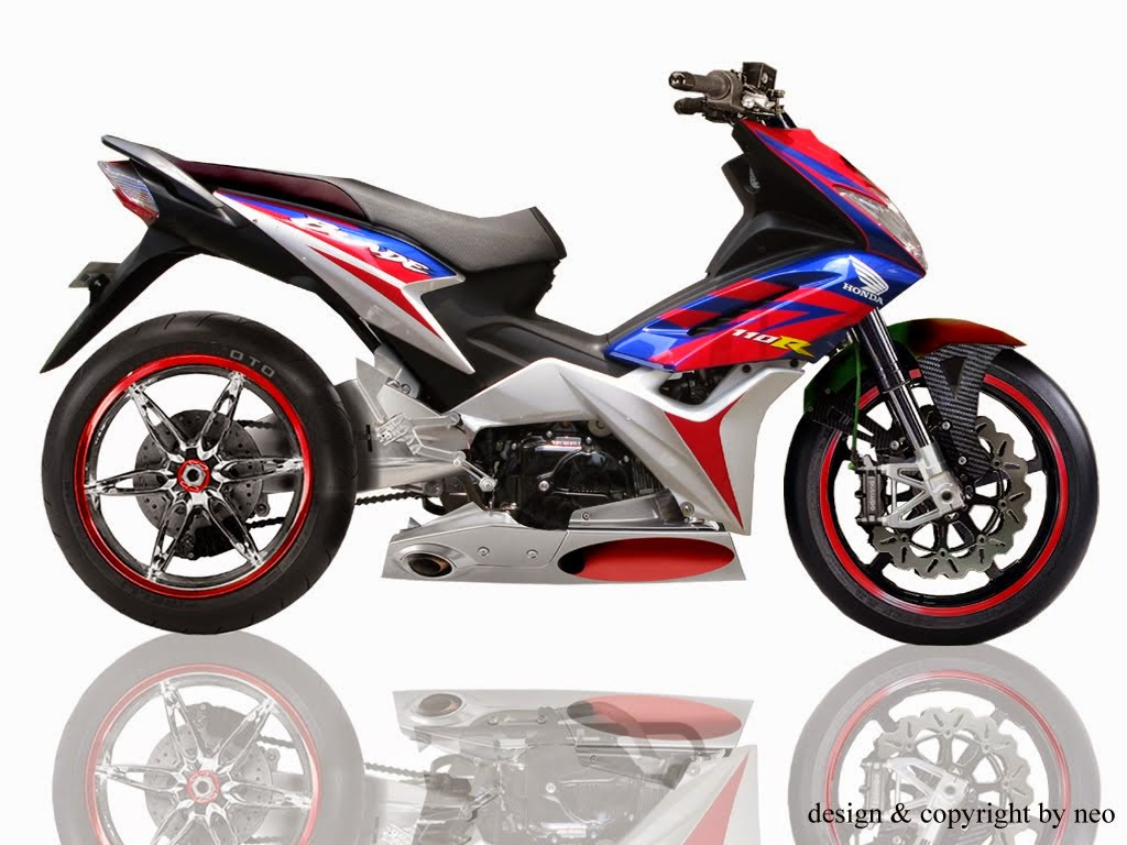 Honda Blade Modifikasi Drag