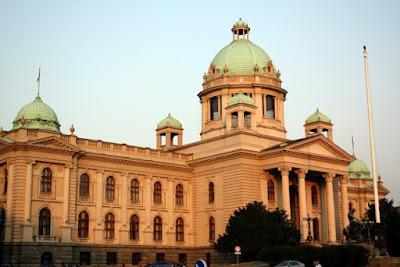 Parliament building in Belgrade Serbia
