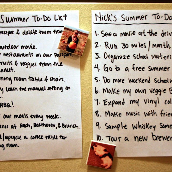 Our Summer To-Do List