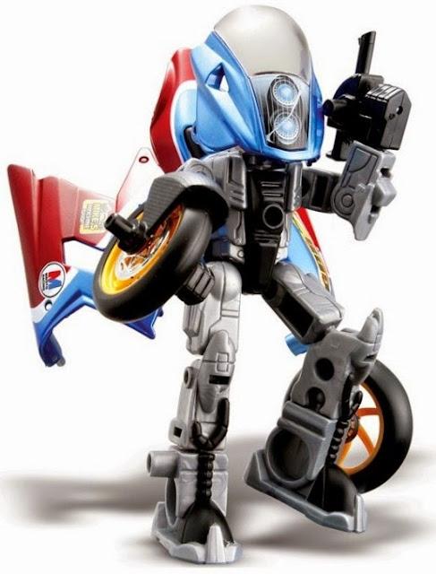 Gas có thể lắp ghép từ mô tô thành các chiến binh Robo