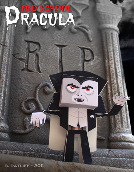 Old School Dracula Paper Toy