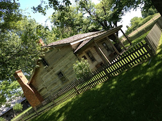 This log cabin was built in 1852.