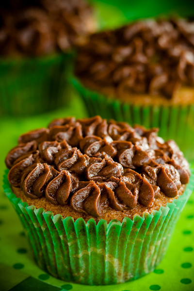 Irish Coffee Brownie Cupcakes for St. Patrick's Day