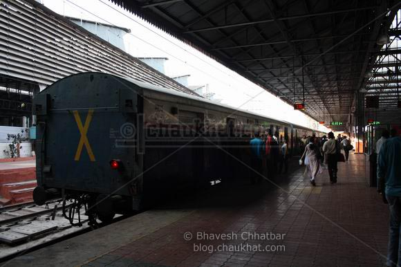 Pragati Express Train on platform number 10 at CST Chhatrapati Shivaji Terminus or VT Victoria Terminus after 26-11 attack