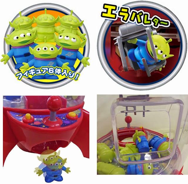 Máy gắp đồ chơi Space Crane hình tàu vũ trụ Rocket Ship bao gồm 6 con Aliens