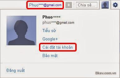 cach doi mat khau gmail giao dien tieng viet buoc 1 Hướng dẫn cách thay đổi mật khẩu Gmail bằng hình ảnh