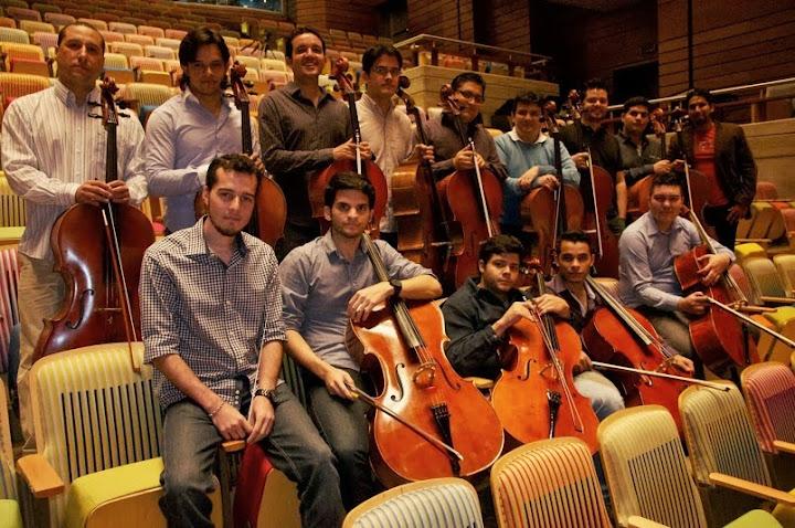 Músicos fundadores de la Academia Nacional de Violonchelo, creada hace tres años